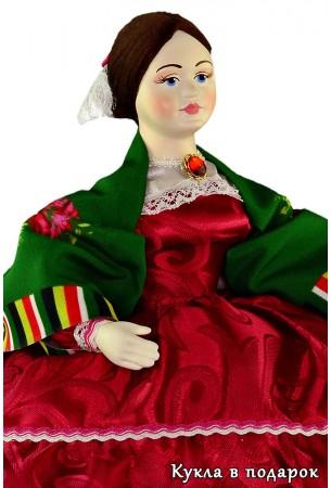Барышня на чайник русская кукла