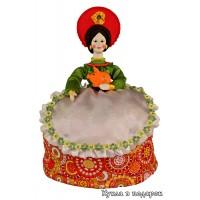 Дымковская народная игрушка кукла грелка