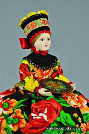 фото подарок на кухню авторская кукла жостово