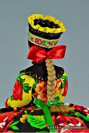 фото подарок на кухню кукла с красным бантом