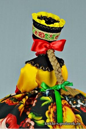 фото подарок на кухню кукла с бантом и косой
