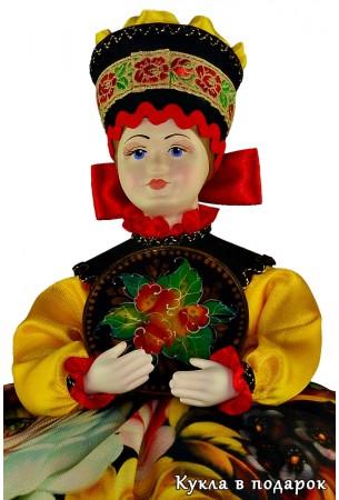 Подарок для кухни жостовская кукла