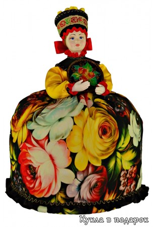 Кукла в подарок на кухню Жостово черный цвет