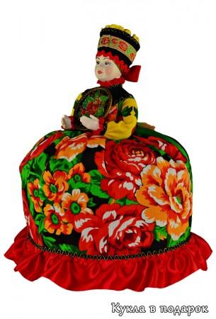 Кукла Жостово лучший подарок любимой для чаепития на кухне