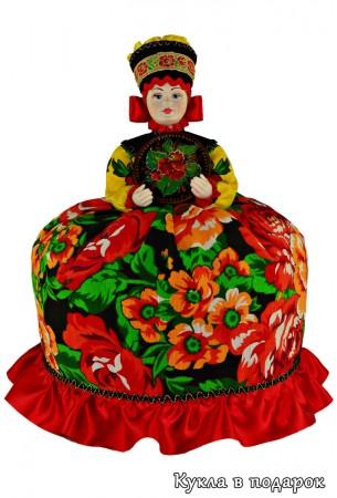 Красная кукла Жостово подарок женщине на кухню