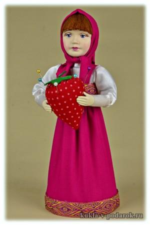 Хендмейд кукла игольница Маша