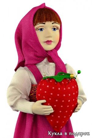 Авторская кукла игольница Маша