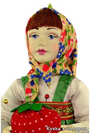 Игольница Маша кукла с расписанным вручную лицом