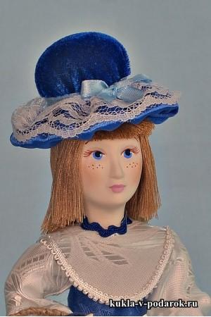 Авторская кукла игольница в шляпке