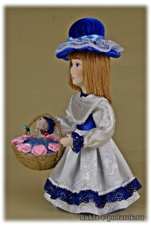 Красивая игольница кукла от автора
