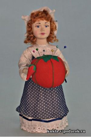 Красивая игольница кукла в подарок