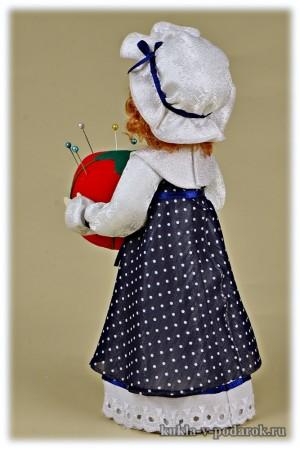 Авторская игольница красивая кукла подарок