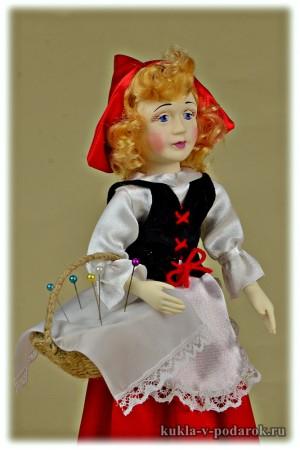 Приятная авторская кукла Красная Шапочка