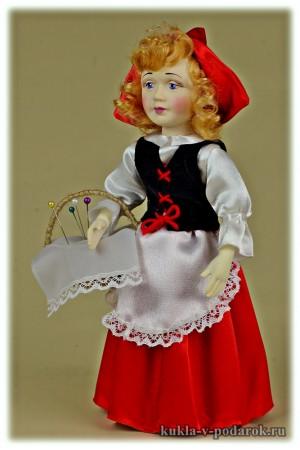 Кукла сувенир Красная Шапочка из сказки
