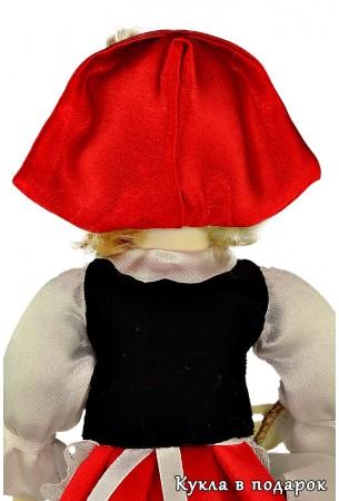 Фото головного убора куклы игольницы Красная Шапочка
