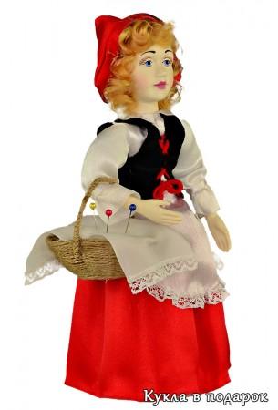 Недорогой подарок кукла игольница Красная Шапочка