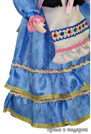 Детали одежды и ткани татарской куклы