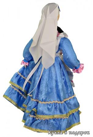 Белая накидка - татарский женский головной убор