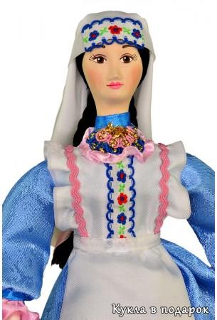 Кукла с двумя косами татарская девушка
