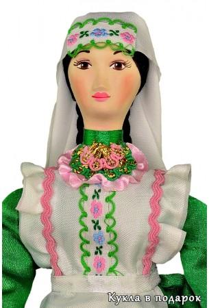 Фарфоровая головка татарской куклы
