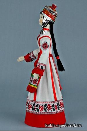 Чувашская кукла готовая работа из фарфора
