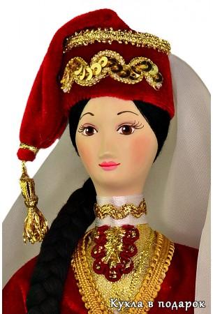 Вышитый калфак - татарский головной убор женщин