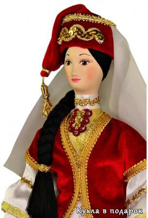 Недорогой татарский подарок авторская кукла с фарфоровой головой