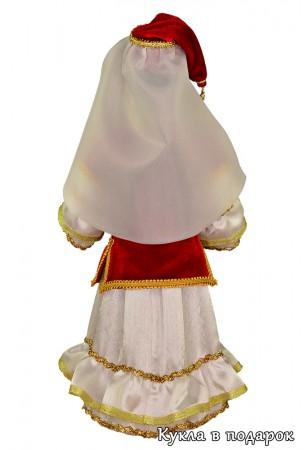 Кукла в накидке - праздничный головной убор татарки