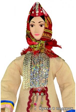 Кукла марийская девушка в традиционном костюме
