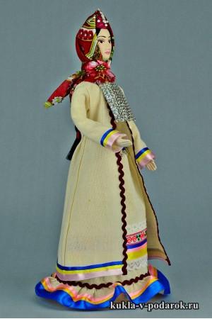 Марийская кукла готовая работа из фарфора