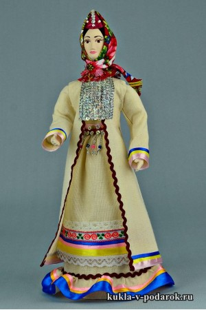 Марийская кукла рукодельный сувенир