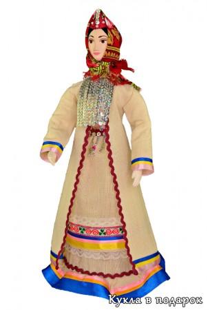 Кукла марийская женщина в праздничном костюме