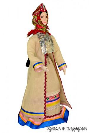 Кукла в марийском народном костюме ручной работы