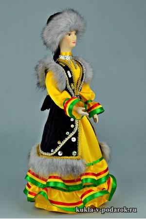 Башкирская кукла готовая работа из фарфора