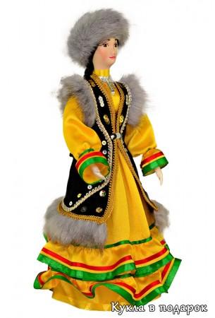 Кукла женщина в башкирском национальном костюме
