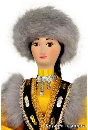 Фарфоровая голова куклы башкирки