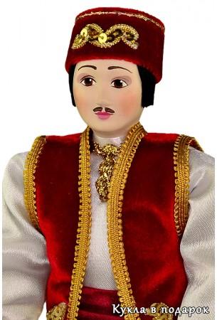 Казанский татарин в камзоле и тюбетейке
