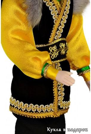 Детали башкирского орнамента и мужского костюма