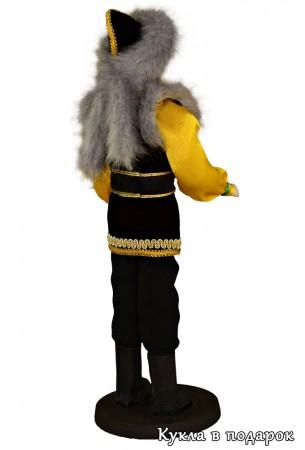 Кукла башкирский подарок мужчина в меховой шапке