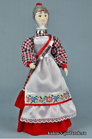 кукла в чувашском костюме в подарок