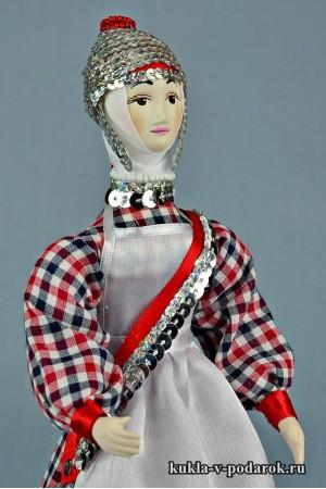 кукла в чувашском костюме ручная работа
