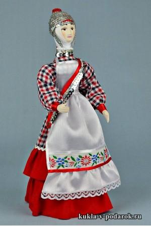 кукла в чувашском костюме авторская работа