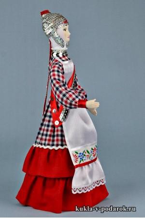 кукла в чувашском костюме сувенир Чувашии