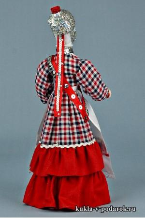кукла в чувашском костюме и народной одежде