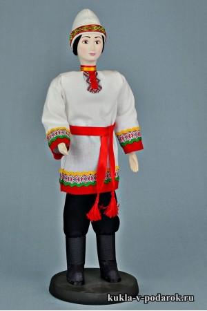 Чуваш в национальном костюме кукла в подарок