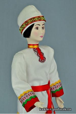 Чуваш в национальном костюме кукла авторской работы