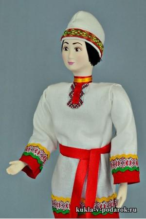 Чуваш в национальном костюме рукодельная кукла