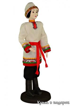 Чуваш в народном костюме кукла ручной работы