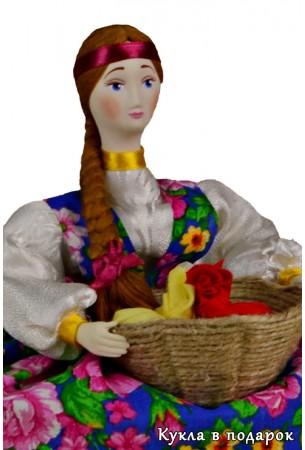 Кукла с фарфоровой головой и руками