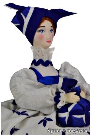 Кукла кубышка травница с фарфоровой головой